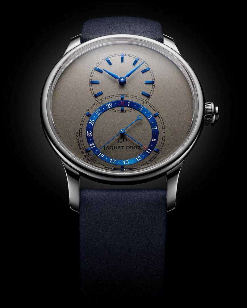 Jaquet Droz,Grande Seconde Quantième大秒針腕表,18K白金,時間顯示,大秒針,日期顯示,價格店洽。圖 / Jaquet Droz提供。