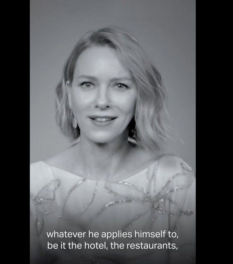 Naomi Watts在影片中大讚ARMANI從時裝、旅館、傢俱用品,都是傑出之...