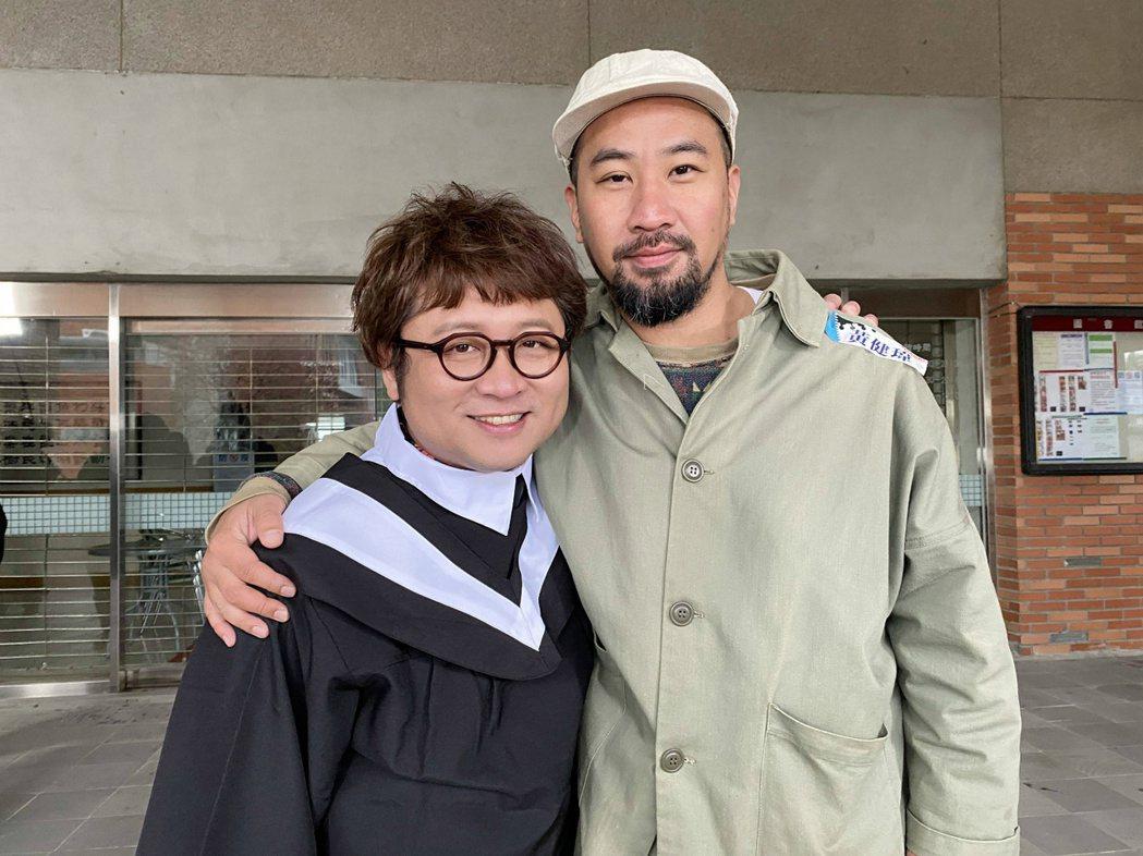 納豆和黃健瑋從大學起就有患難情誼。圖/八大提供