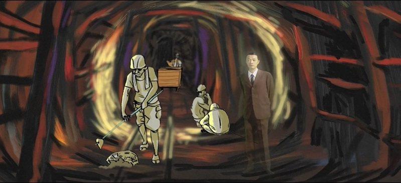 黃金博物館將播映吳朋奉刻劃的礦工身影。圖/黃金博物館提供
