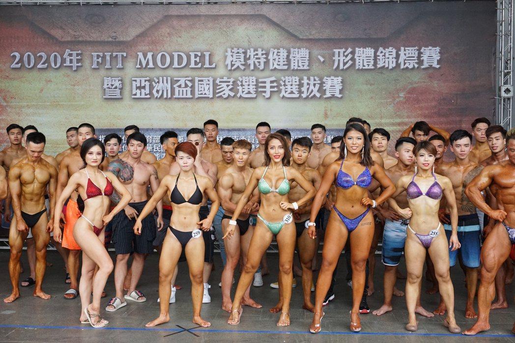 這次女子形體組與女子比基尼組賽事有不少選手參賽。 記者劉肇育/攝影