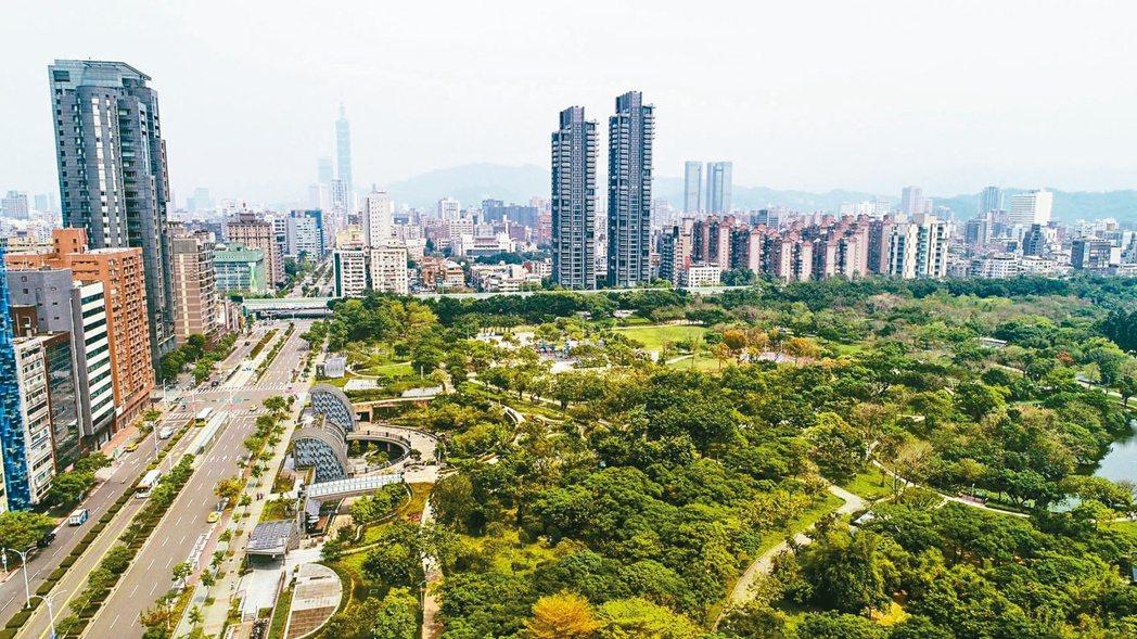 台北市大安森林公園周邊街景。 (本報系資料庫)