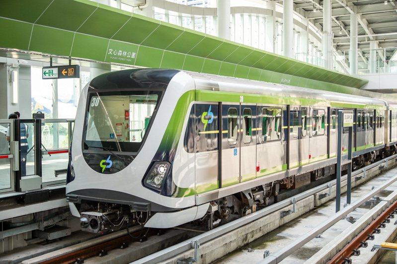 台中捷運綠線預計年底通車,已擬訂大眾捷運系統相關自治規則6項,旅客進站後不可飲食。圖/台中市交通局提供