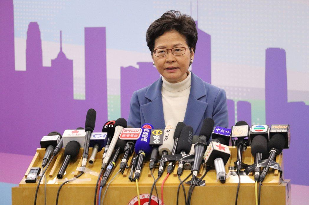香港特首林鄭月娥。圖/取自本報系資料庫