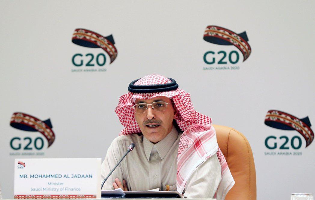 圖為沙國財政部長賈丹(Mohammed Al-Jadaan)。路透