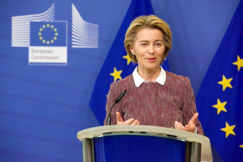 歐洲各企業因應疫情進行產業轉型時也強調環保意識,歐盟則提出「下一代歐盟」的計劃願景。圖為歐盟主席馮德萊恩。(photo by Twitter)