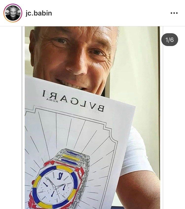 寶格麗CEO Jean-Christophe Babin在自己IG上轉貼包括蔡依...