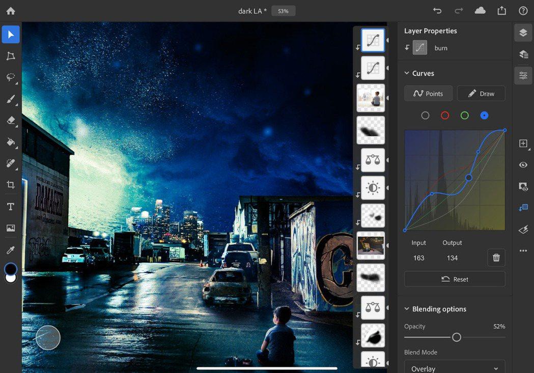 曲線功能使用戶能夠對圖像色彩和色調進行精細的調整,並可無損地調整對比度、曝光度、...