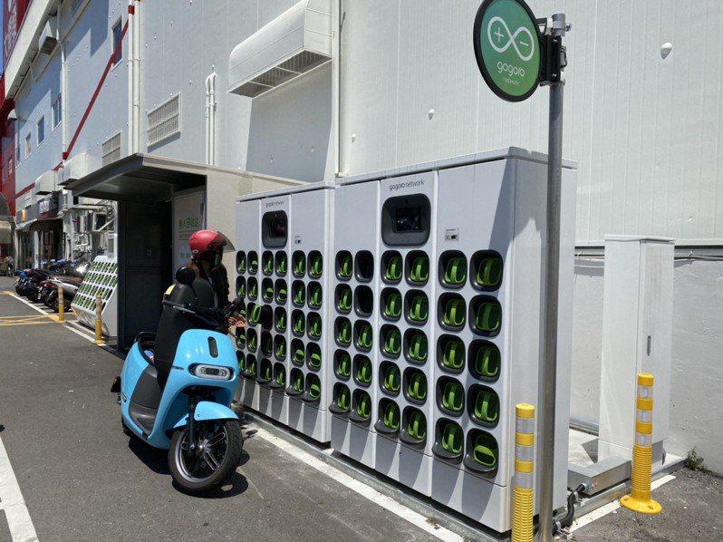 新竹市府與Gogoro簽訂契約,在8處公有停車場、2處公有市場增設電池交換站,預計今年8月完成建置。圖/新竹市政府提供