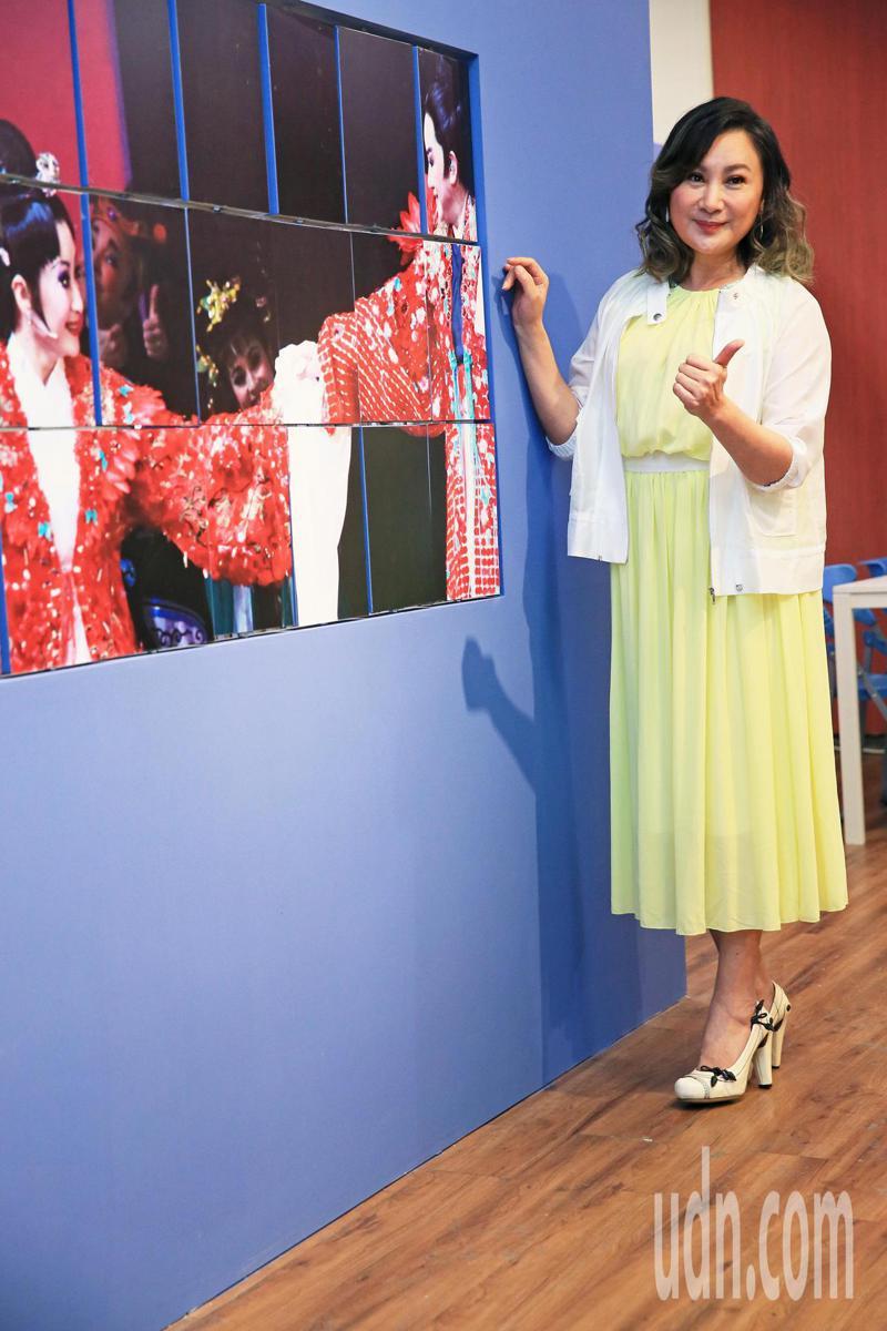 台北市歌仔戲推廣協會理事長陳亞蘭今天為在龍山文創基地成立的歌仔戲圖書館站台。記者潘俊宏/攝影