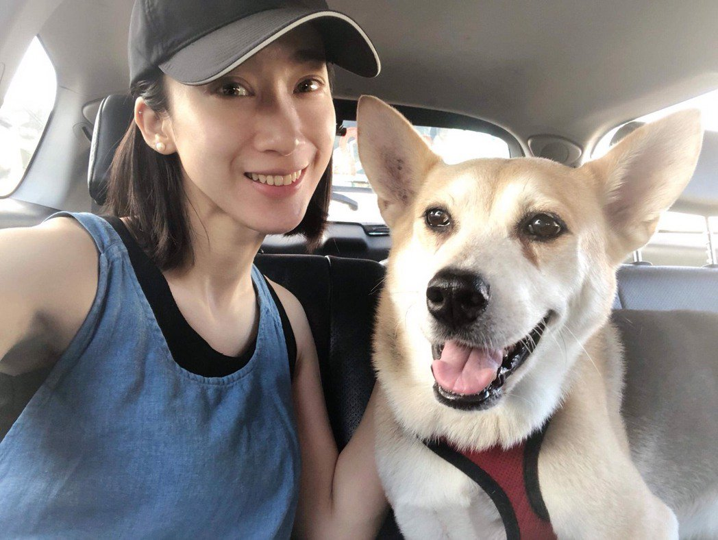 林涵的愛犬「乒乓」(右)2月因病去世了。圖/林涵提供