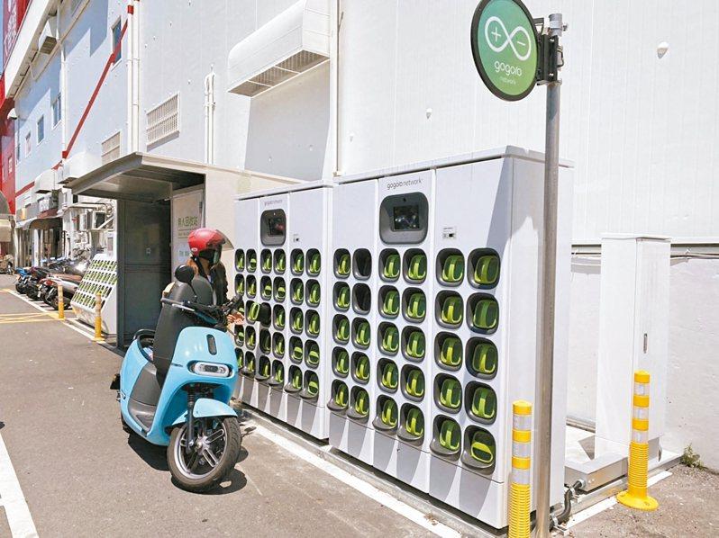 全台遍布了Gogoro電池充電站,以利民眾使用。 圖/新竹市政府提供