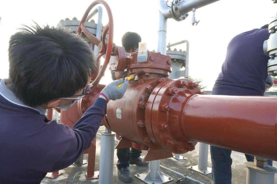 天然氣高壓管線施工。 高久/提供