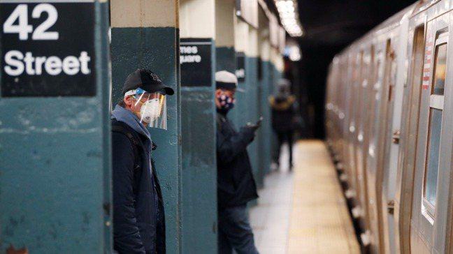 紐約地鐵站。 路透社