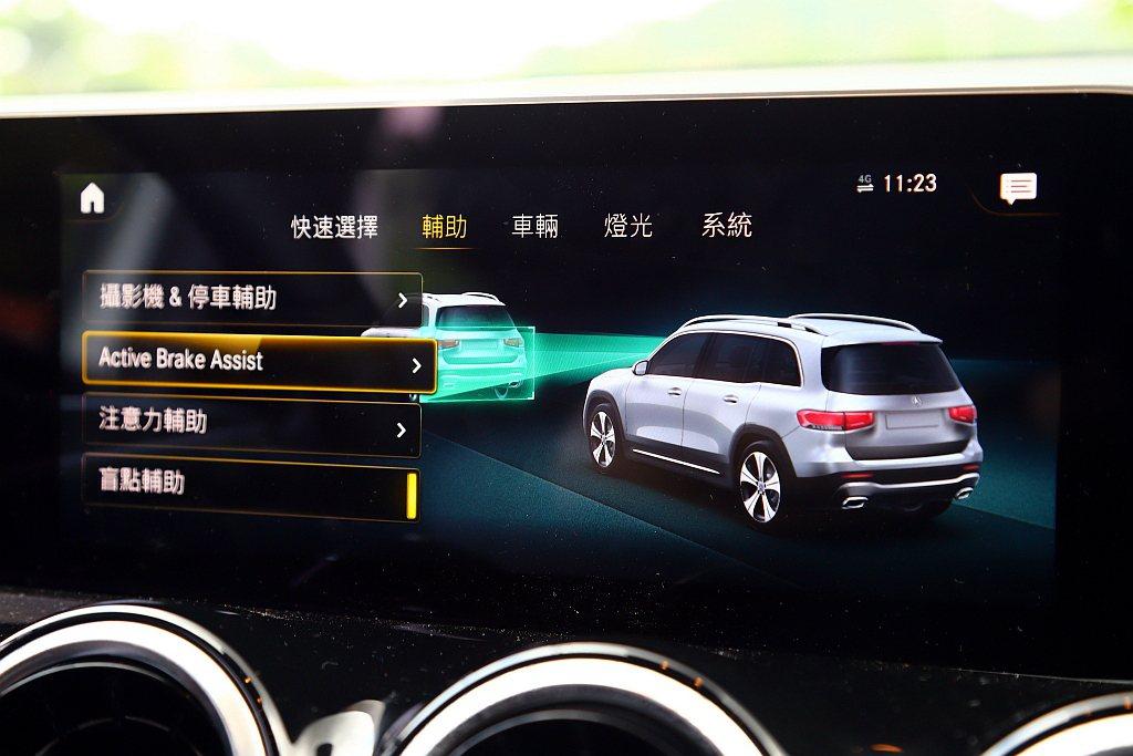 賓士GLB全車型將主動防撞輔助含移動行人偵測、後方橫向車流警示、盲點輔助(含離車...