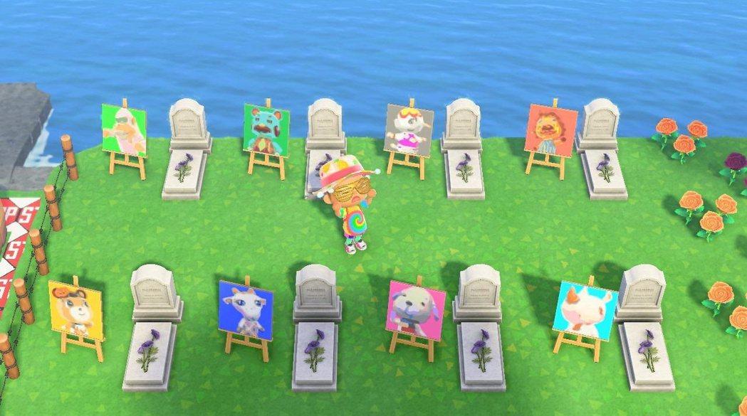 島上的一隅建了墓園,讓離去的動物長眠在此(?)/圖片來源:Reddit@Ball...