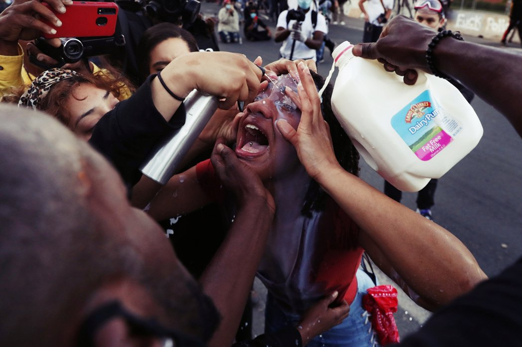 明州抗爭現場,示威者。 圖/路透社