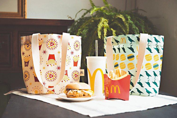 2016年印花樂與麥當勞合作環保提袋。 圖/印花樂提供