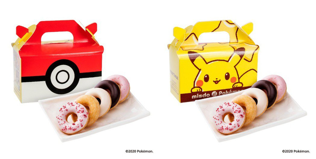 迷你甜甜圈「歡樂5Q」也推出寶可夢限定包裝。圖/Mister Donut提供