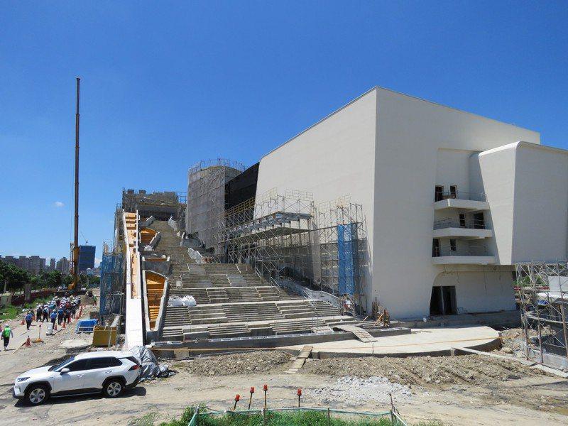 「中台灣電影中心」及「國家漫畫博物館」兩館合一案,主體已興建完成。記者黃寅/攝影