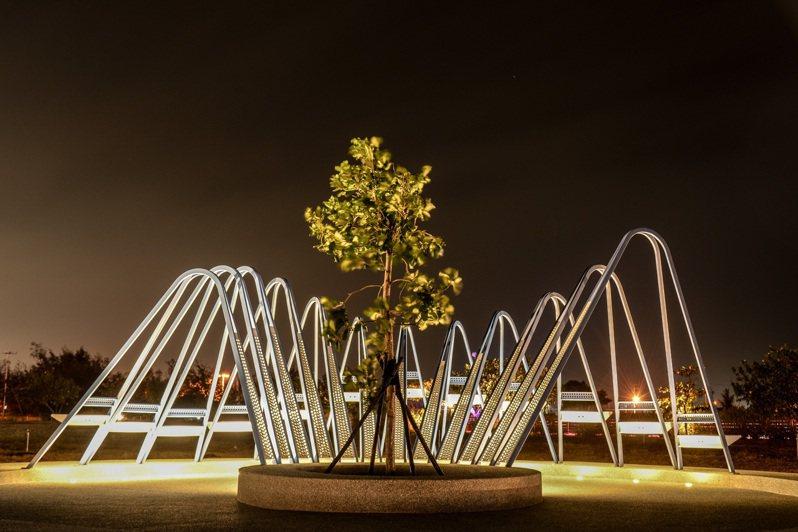 雲嘉南風管處北門遊客中心「夢幻島」藝術裝置作品,榮獲2020義大利設計大獎。圖/雲嘉南濱海國家風景區提供