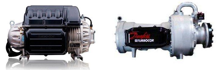 全台唯一美國原裝進口的Danfoss「磁懸浮變頻離心式壓縮機」。堃霖公司/提供