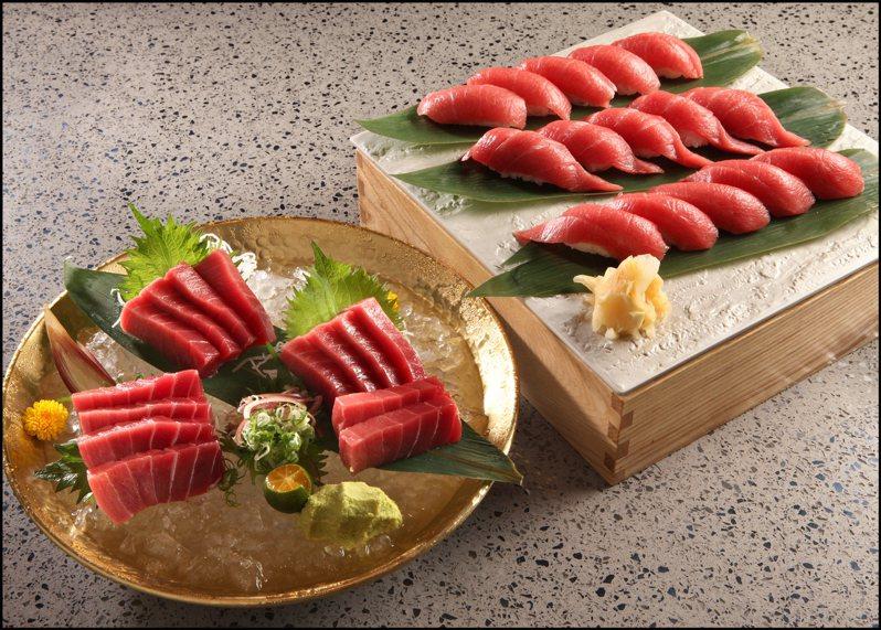 饗饗以及旭集,無限提供黑鮪魚中腹肉握壽司、下腹肉厚切生魚片等料理。圖/饗賓餐旅集團提供