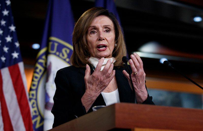 美國聯邦眾議院議長裴洛西(Nancy Pelosi)。 美聯社