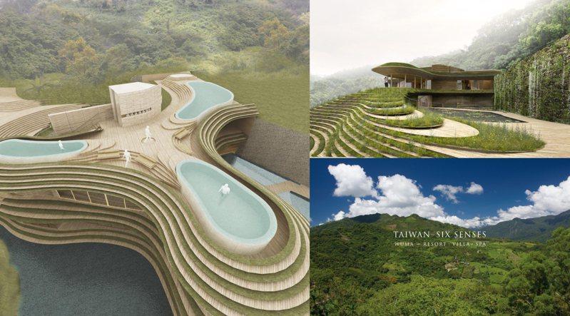 世界知名渡假村品牌Six Senses攜手日本建築師隈研吾、美國代表性景觀設計AECOM,打造全台首座國際豪華飯店。 圖/CLAD、住邦資產管理官網
