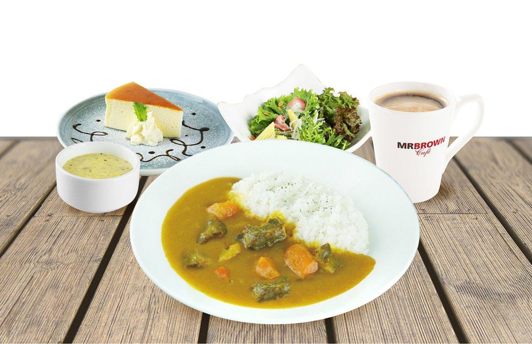 廣受消費者喜愛的伯朗咖啡館指定套餐買一送一活動,6月推出全新品項「牛肉咖哩飯」,...