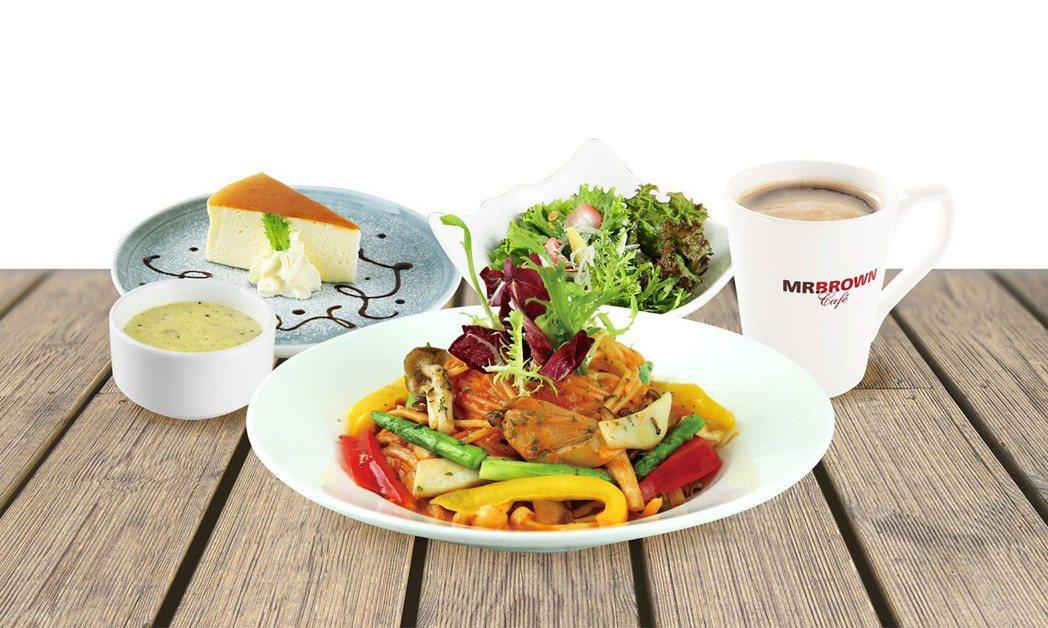 全新品項蕃茄蔬菜義大利麵,奶素或植物五辛素的消費者也可食用。業者/提供