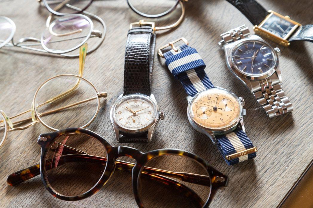 Marco尤其偏愛古董眼鏡和古董手表,收藏之餘,還會花心思保養、自行更換配件。 ...