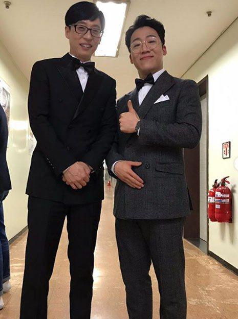 朴大承(右)在電視台女廁裝針孔偷拍,1日已自首。圖/擷自韓媒etoday