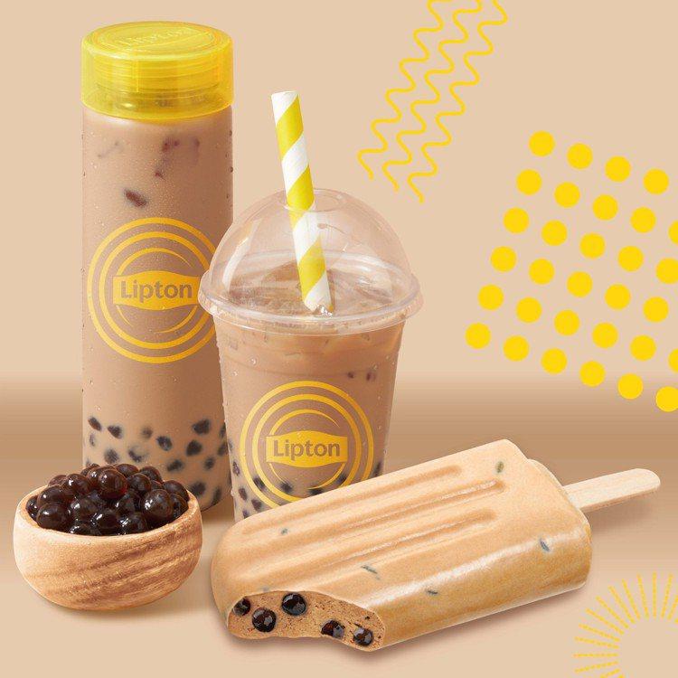 立頓與杜老爺首度合作推出「珍珠奶茶雪糕」,售價39元,6月3日起在全台7-ELE...