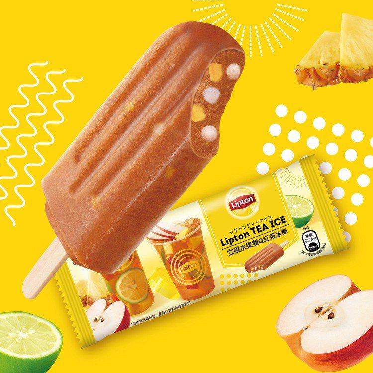 立頓與杜老爺首度合作推出「水果雙Q紅茶冰棒」,售價39元,6月3日起在全台7-E...