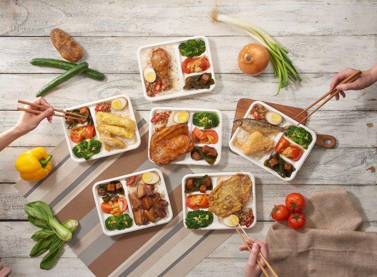 HOTEL COZZI和逸飯店.台北忠孝館午間外帶餐盒。圖/國泰飯店觀光事業提供