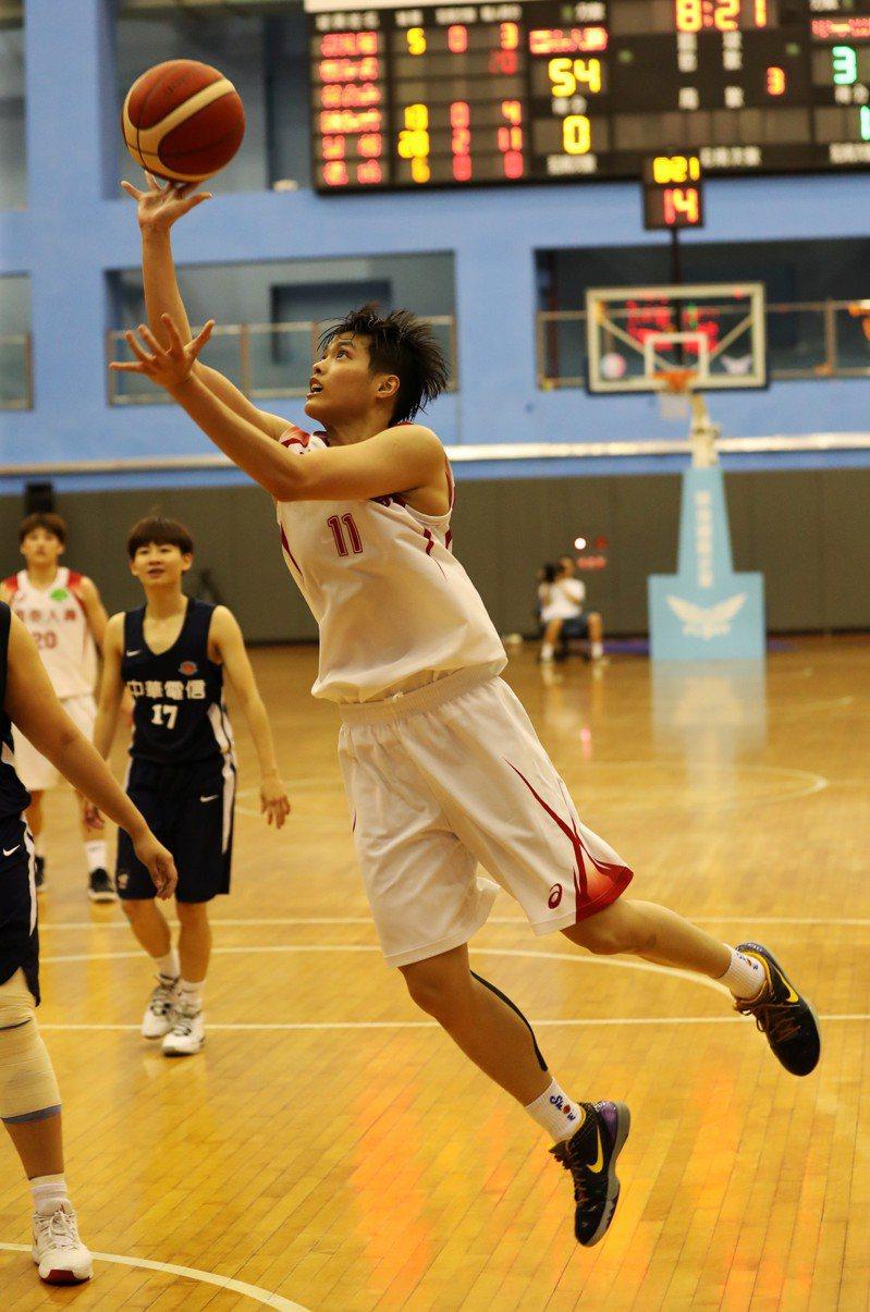 國泰鄭伊秀上周對電信拿下個人生涯新高的單場33分。圖/中華民國籃球協會提供