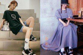 洋裝、短褲都好看 楊丞琳超懂搭運動風涼鞋