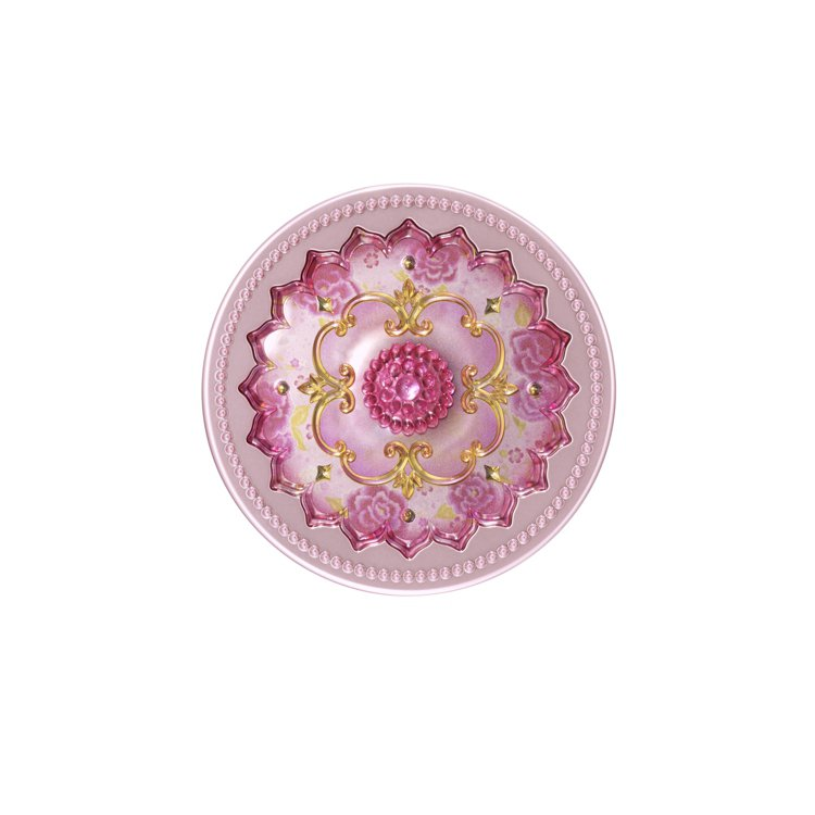ANNA SUI粉紅翎雀限量保養禮盒-珍珠嫩白晚安粉。圖/ANNA SUI提供