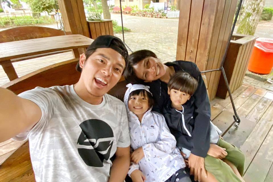 宥勝一家人目前已回到台北。圖/摘自臉書
