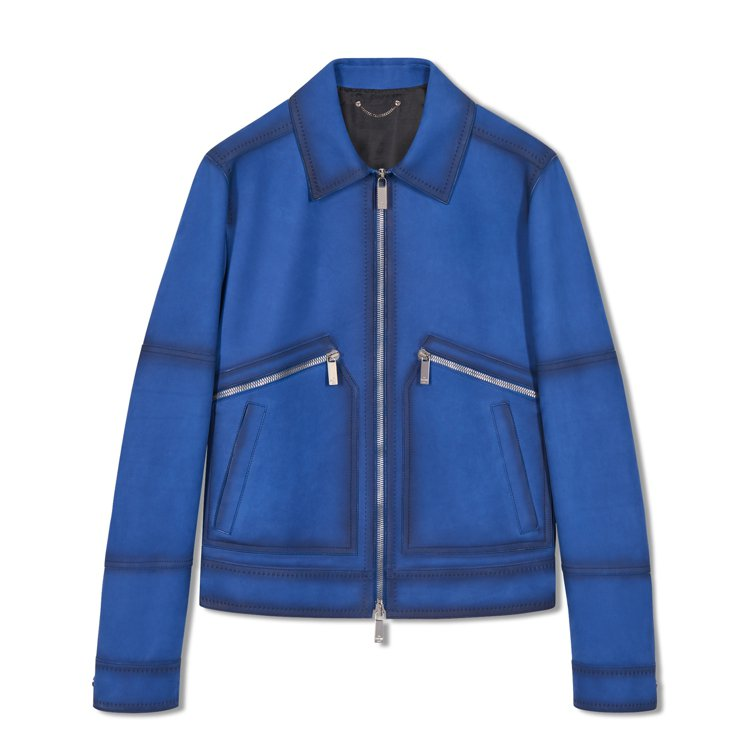 想展現粗獷男人味?除了長風衣之外,Berluti今年也有類似機車騎士夾克風格的小...