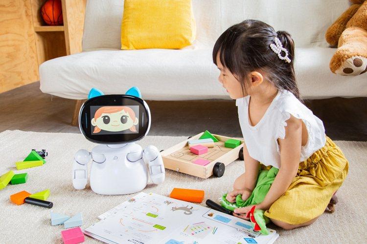 「Kebbi Air」搭載7吋觸控螢幕、12顆AI伺服器馬達,具備流暢的肢體動作...