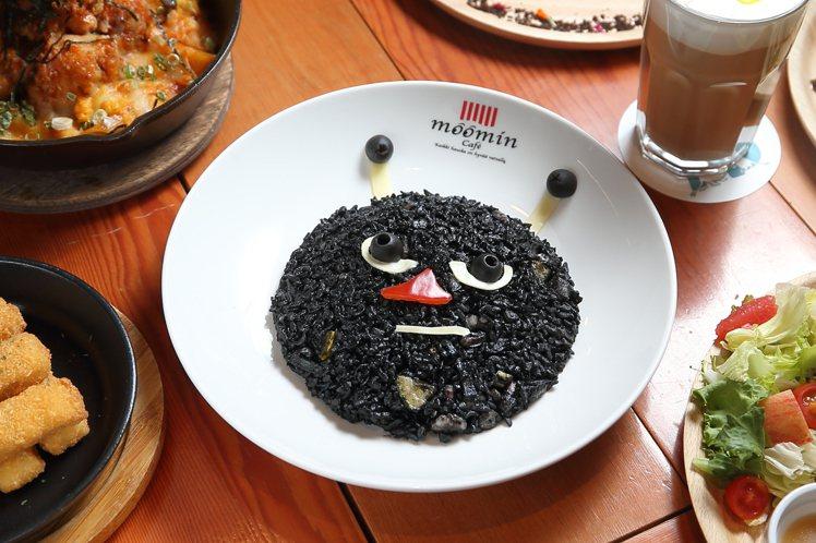 小調皮阿丁墨魚燉飯,每份300元。記者陳睿中/攝影