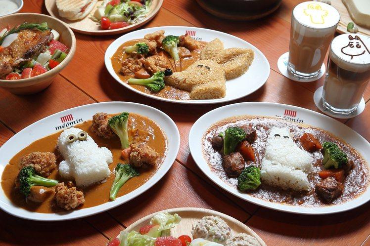 可選擇白飯造型的日式炸雞咖哩、紅酒牛肉飯。記者陳睿中/攝影