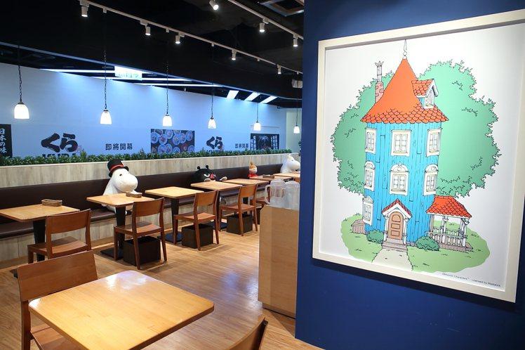 店內以北歐童話風,打造嚕嚕米的家。記者陳睿中/攝影