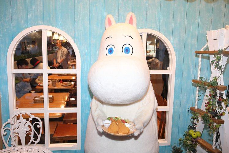 嚕嚕米將會不定期現身於嚕嚕米主題餐廳。記者陳睿中/攝影