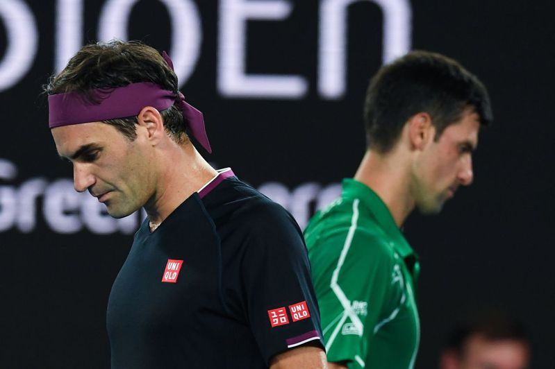 曾奪下溫網冠軍的前澳洲名將凱許認為,費德勒(左)不僅排不進史上前兩名,還將會在未來被約克維奇(右)超車。 法新社