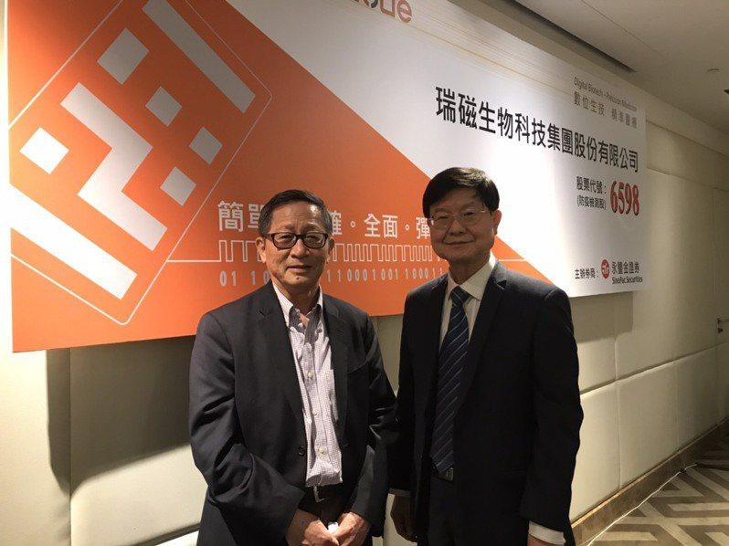ABC-KY董事長李家榮(右)、總經理何重人(左)。 聯合報系資料照/記者嚴雅芳攝影