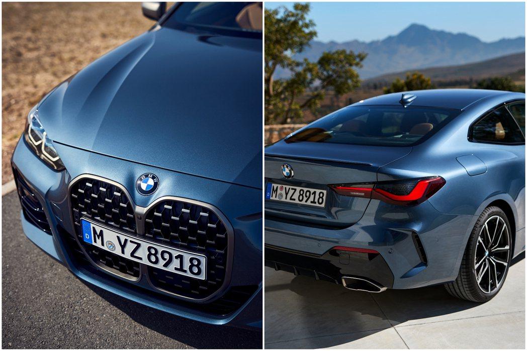 第二代BMW 4 Series Coupe有著超吸引人的碩大雙腎型水箱護罩,以及...
