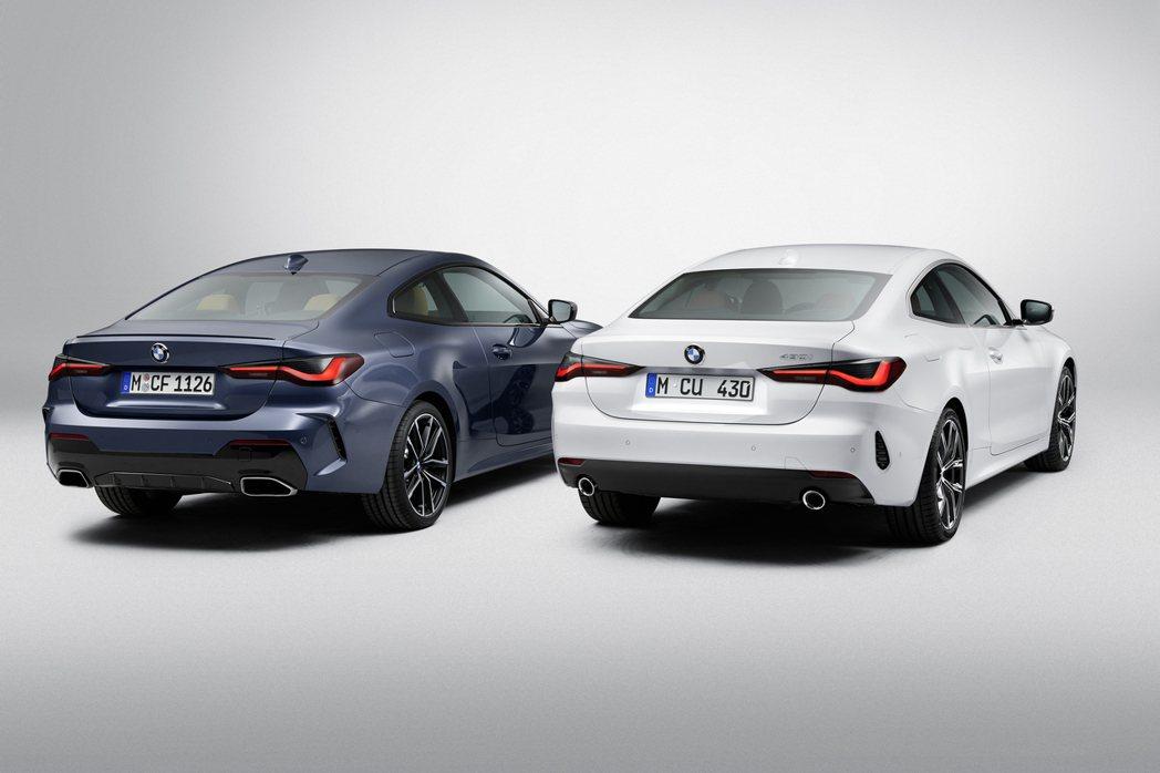 第二代BMW 4 Series Coupe在不同車型中的外觀設計稍有不同,如M4...